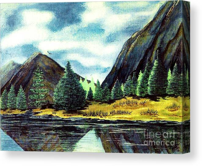 Fine Art Canvas Print featuring the painting Solitude by Patricia Griffin Brett
