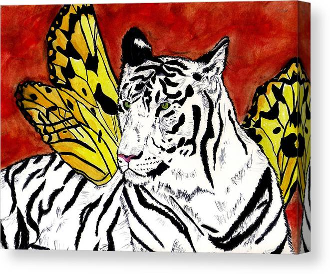Tiger Canvas Print featuring the painting Soul Rhapsody by Crystal Hubbard