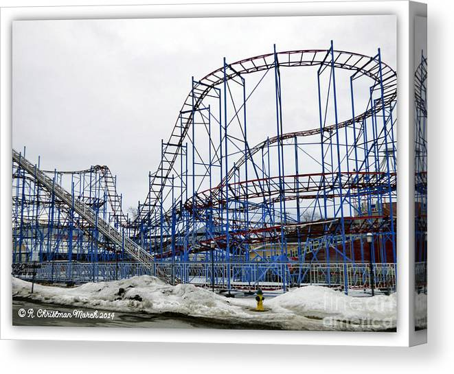 Roller Coaster Canvas Print featuring the photograph Spring Awaits by Rennae Christman