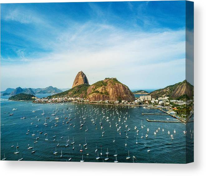 Scenics Canvas Print featuring the photograph Sugarloaf Mountain In Rio De Janeiro, Brazil by Nikada