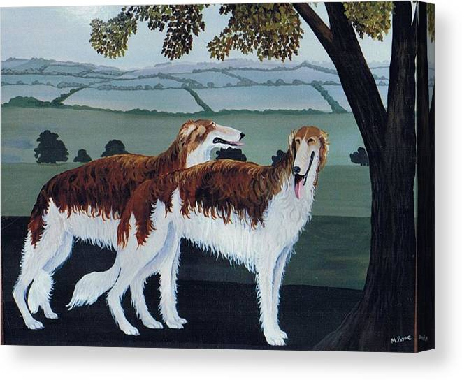 Borzoi Canvas Print featuring the photograph Untitled by Maggie Rowe