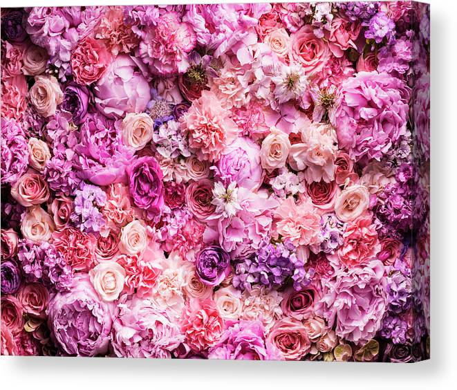 Tranquility Canvas Print featuring the photograph Various Cut Flowers, Detail by Jonathan Knowles