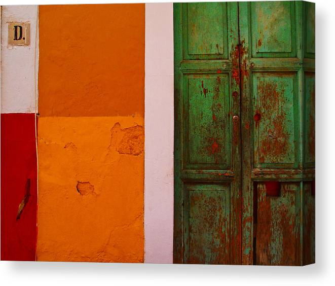 Guanajuato Canvas Print featuring the photograph D by Skip Hunt