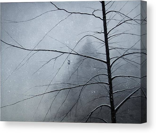 Winter Trees Canvas Print featuring the painting Loneliness by Roger Calle