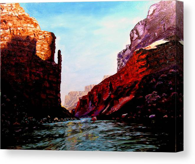Grand Canyon Canvas Print featuring the painting Grand Canyon IV by Stan Hamilton