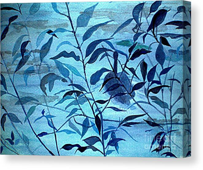 Blue Canvas Print featuring the painting Blue on Blue by Vi Mosley