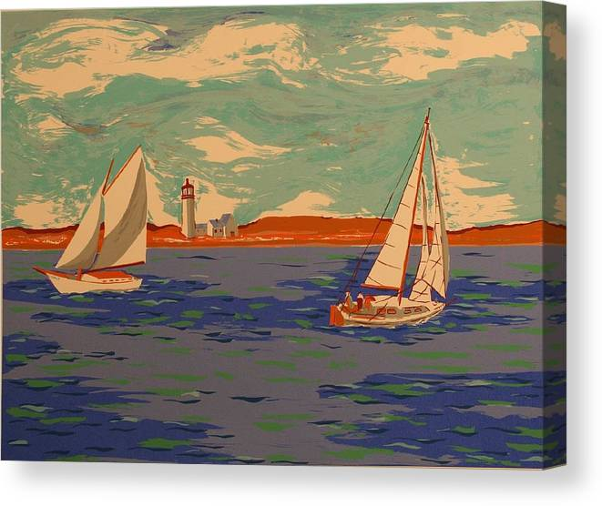 Canvas Print featuring the print Along the coast by Biagio Civale