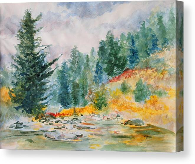 Landscape Canvas Print featuring the painting Afternoon in the Backcountry by Andrew Gillette