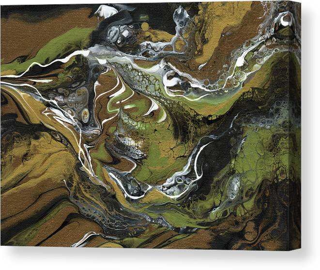 Abstract Canvas Print featuring the painting Bronze God by Ken Meyer jr
