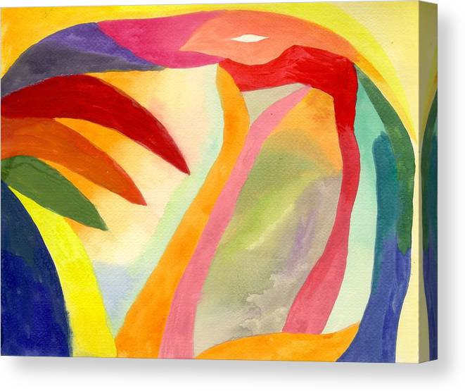 Abstract Canvas Print featuring the painting Cancun 1 by Peter Shor