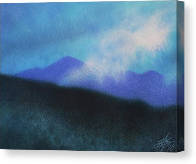 Landscape Canvas Print featuring the painting Cloudline III by Robin Street-Morris