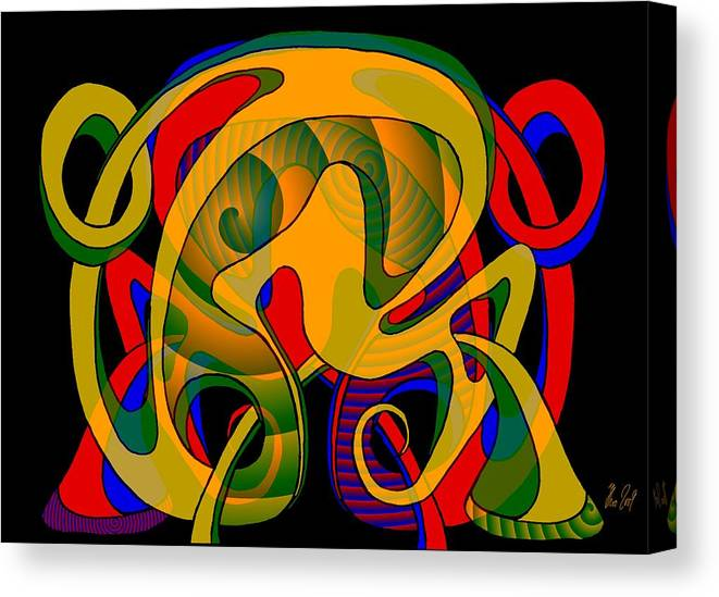 Life Canvas Print featuring the digital art Corresponding independent Lifes by Helmut Rottler