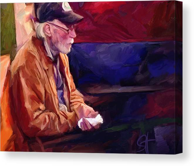 Portrait Canvas Print featuring the digital art Don by Scott Waters