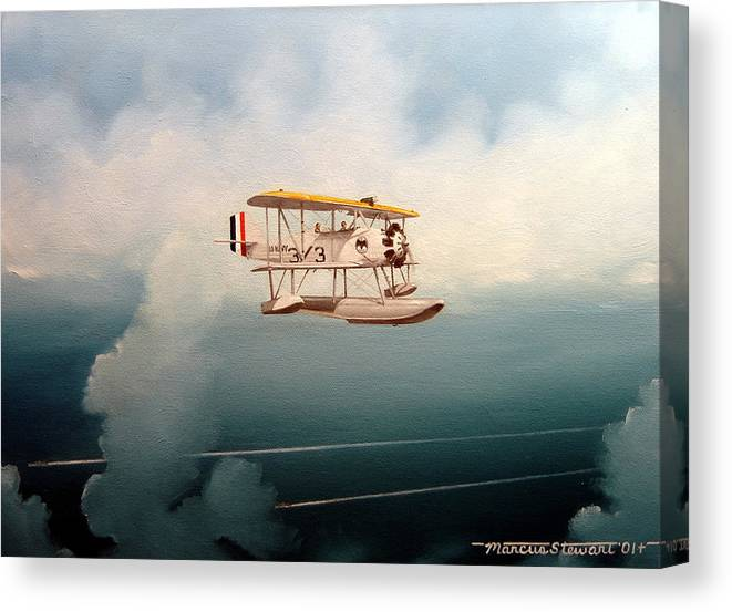 Military Canvas Print featuring the painting Eyes Of The Fleet by Marc Stewart