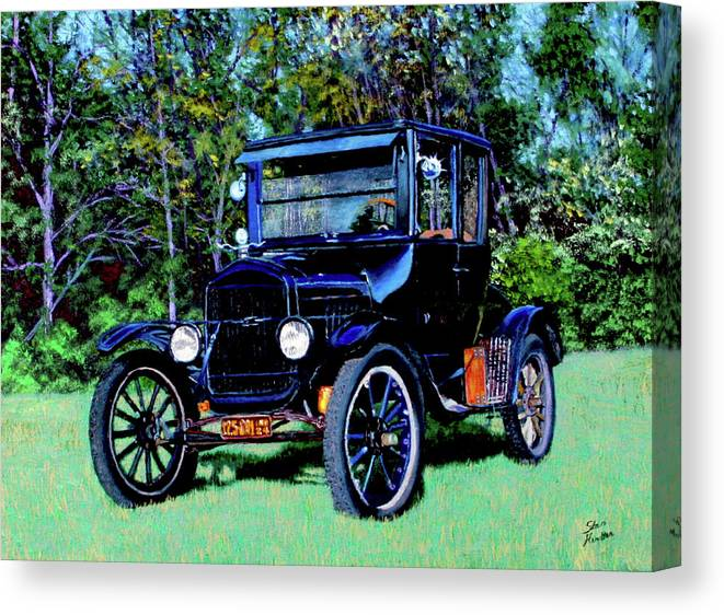Ford Canvas Print featuring the painting Ford Model T by Stan Hamilton