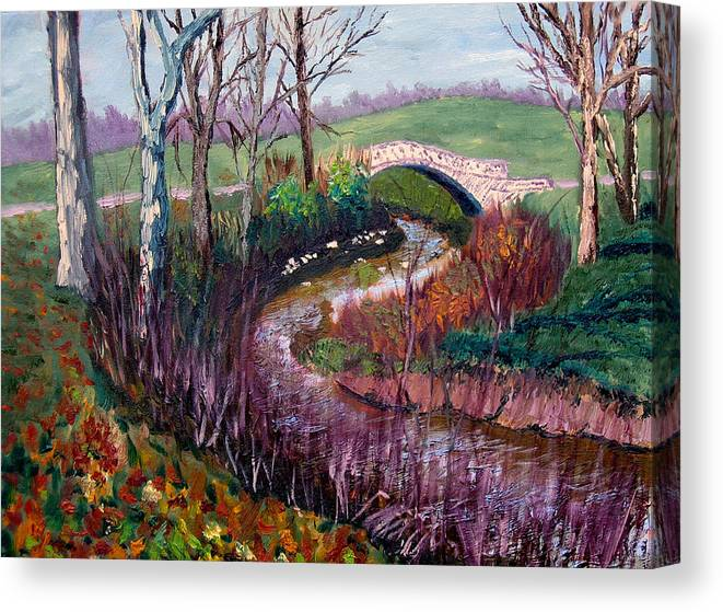 Landscape Canvas Print featuring the painting Gp 11-22 by Stan Hamilton