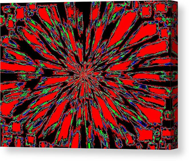 Abstract Canvas Print featuring the digital art Harmony 37 by Will Borden