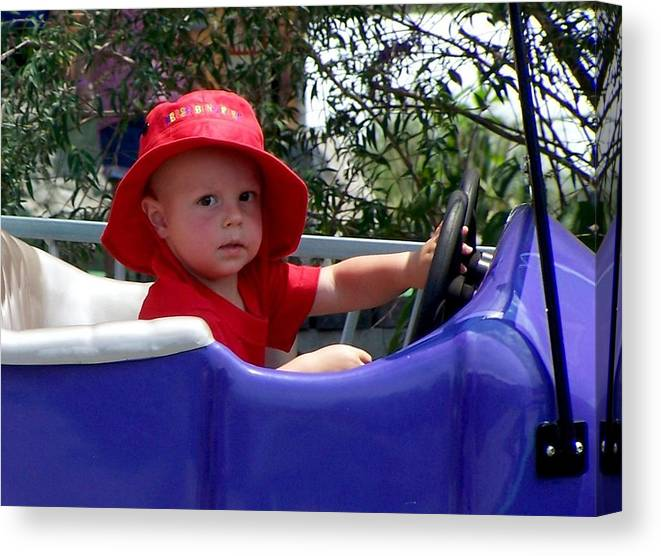 Nature Canvas Print featuring the photograph In The Driver's Seat by Cumberland Studios