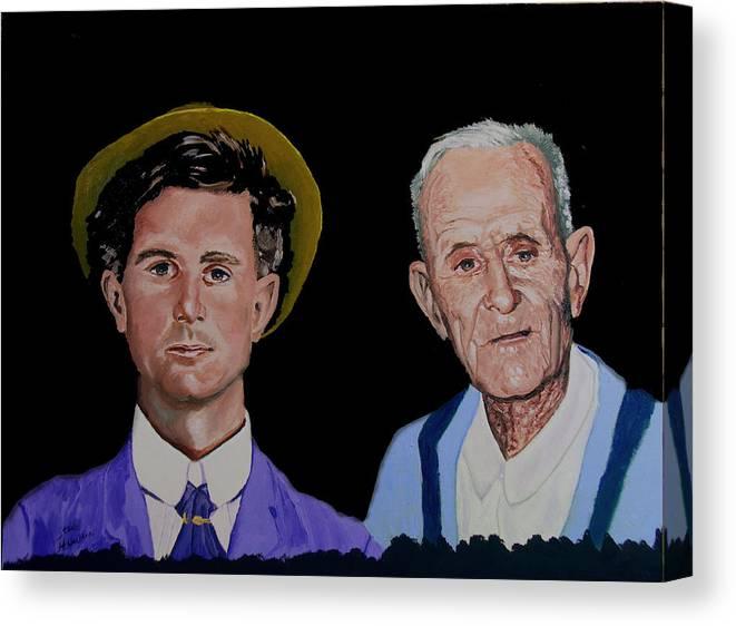 Double Life Portrait Canvas Print featuring the painting Louis Life Portrait by Stan Hamilton