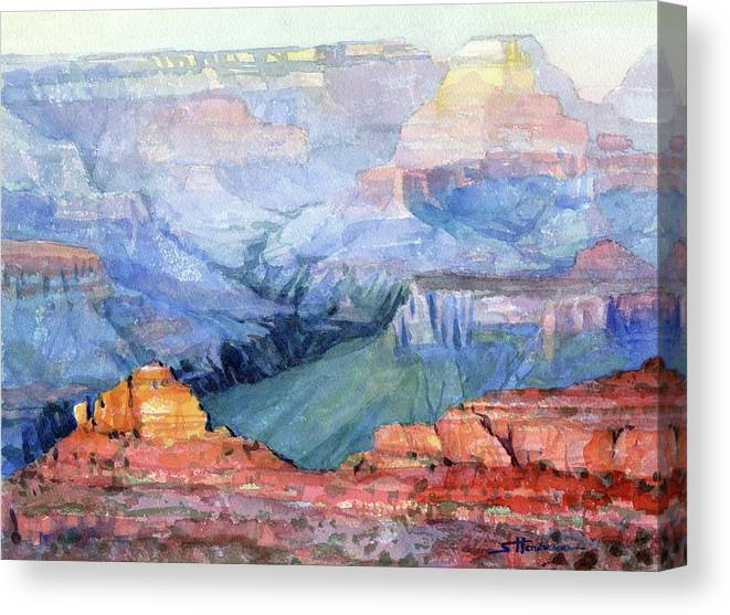 Grand Canyon Canvas Print featuring the painting Many Hues by Steve Henderson