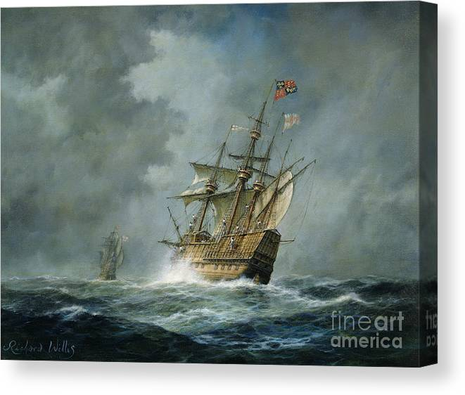 Mary Rose Canvas Print featuring the painting Mary Rose by Richard Willis