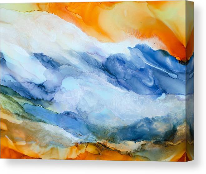Abstract Canvas Print featuring the painting Mesmerized - A by Sandy Sandy
