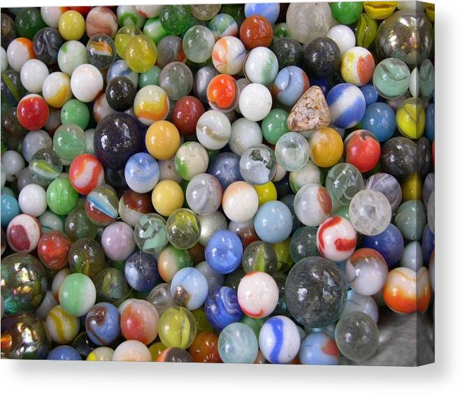 Photo Canvas Print featuring the photograph My Marble Collection by Rebecca Marona