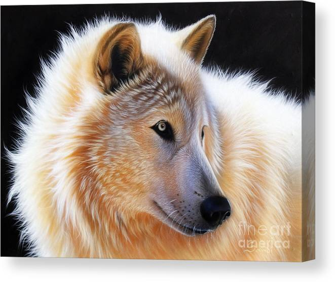 Acrylic Canvas Print featuring the painting Nala by Sandi Baker