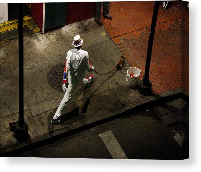 New Orleans Canvas Print featuring the photograph New Orleans Shuffle by Linda Kish