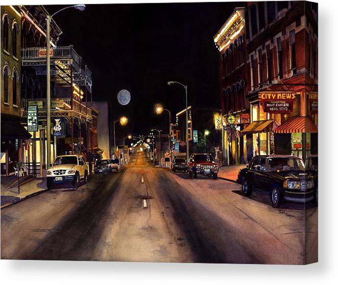 Nocturne Watercolor Canvas Print featuring the painting Nocturne by Terri Meyer