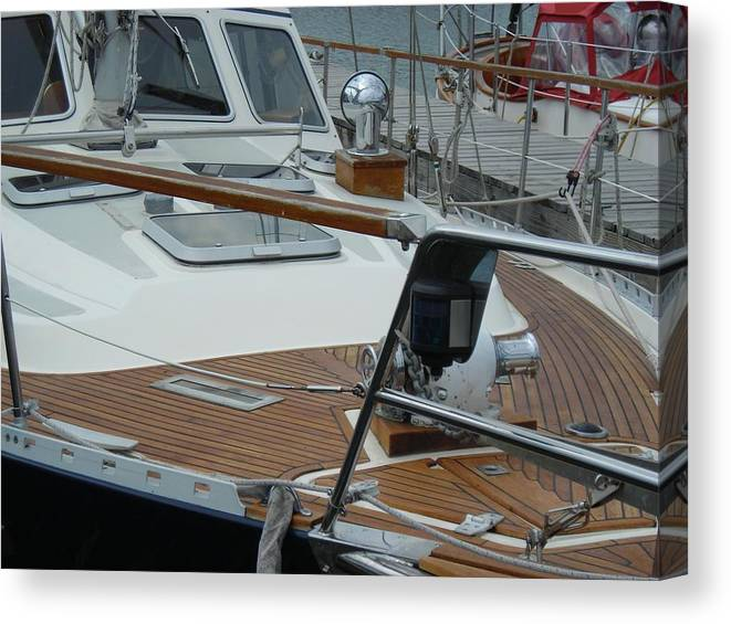 Boats Canvas Print featuring the photograph On Deck by Peter Mowry