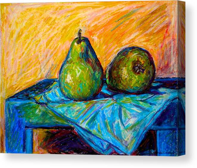 Still Life Canvas Print featuring the painting Other Pears by Kendall Kessler