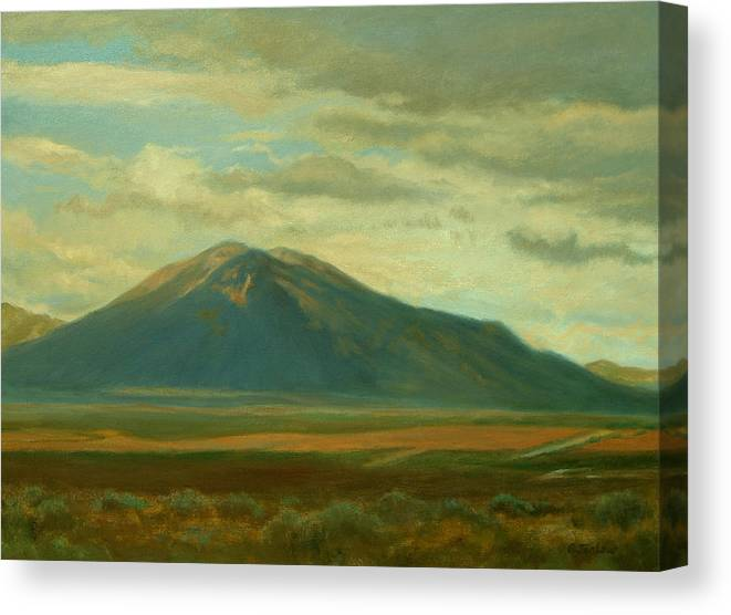 Southwest Canvas Print featuring the painting Outside Of Taos by Phyllis Tarlow