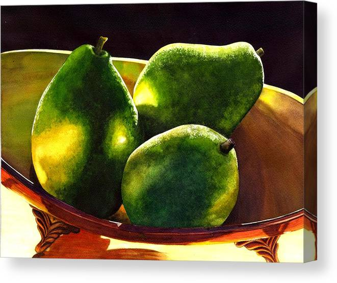 Still Life Canvas Print featuring the painting Pears No 2 by Catherine G McElroy