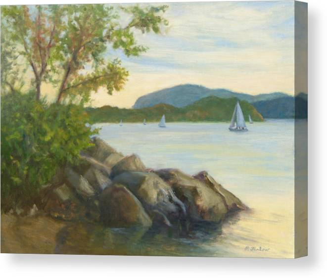 Landscape Painting Canvas Print featuring the painting Perfect Day for a Sail by Phyllis Tarlow