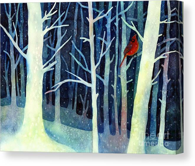 Cardinal Canvas Print featuring the painting Quiet Moment by Hailey E Herrera