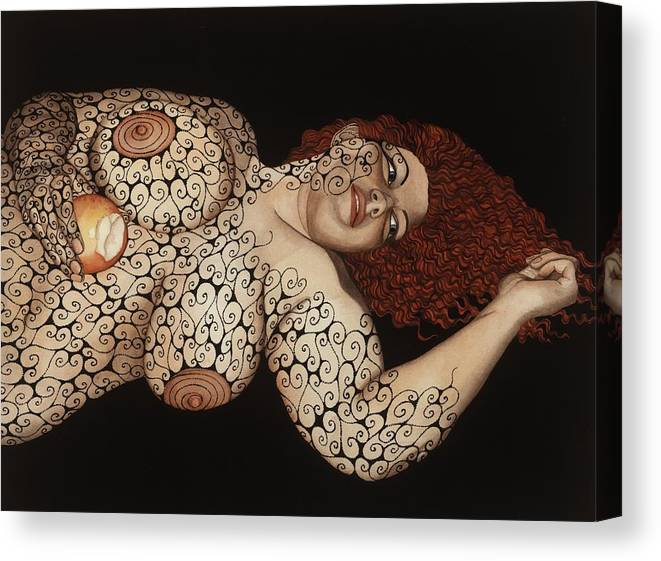 Figurative Canvas Print featuring the painting Redemption by Tina Blondell