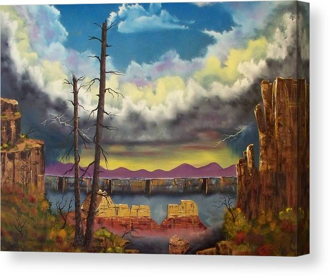 Painting Canvas Print featuring the painting Sacred View by Patrick Trotter
