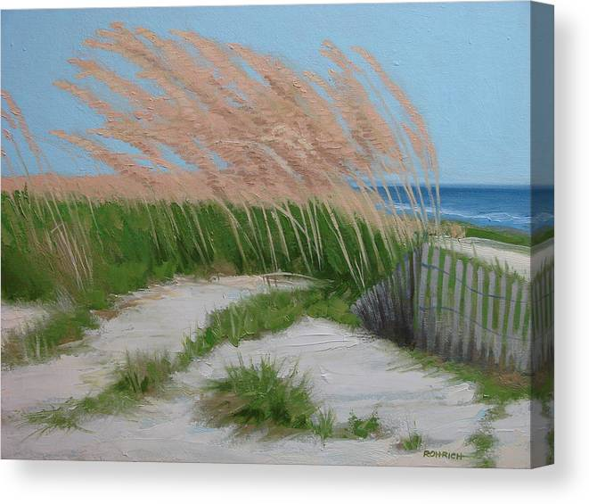 Ocean Dunes Canvas Print featuring the painting Sand Dunes No 2 by Robert Rohrich