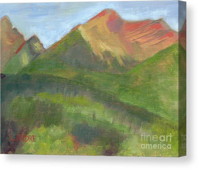 Colorado Canvas Print featuring the painting Sangres II by Lilibeth Andre