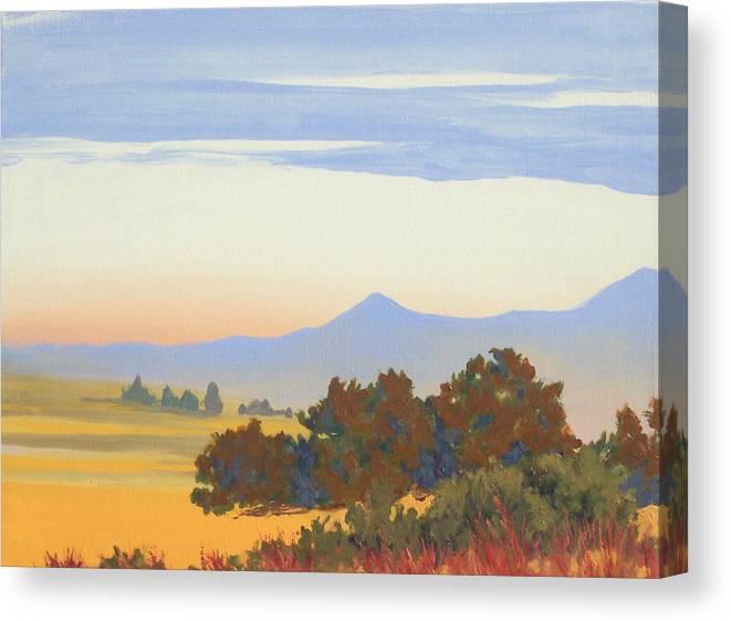 Landscape Canvas Print featuring the painting Santa Maria Valley by Philip Fleischer