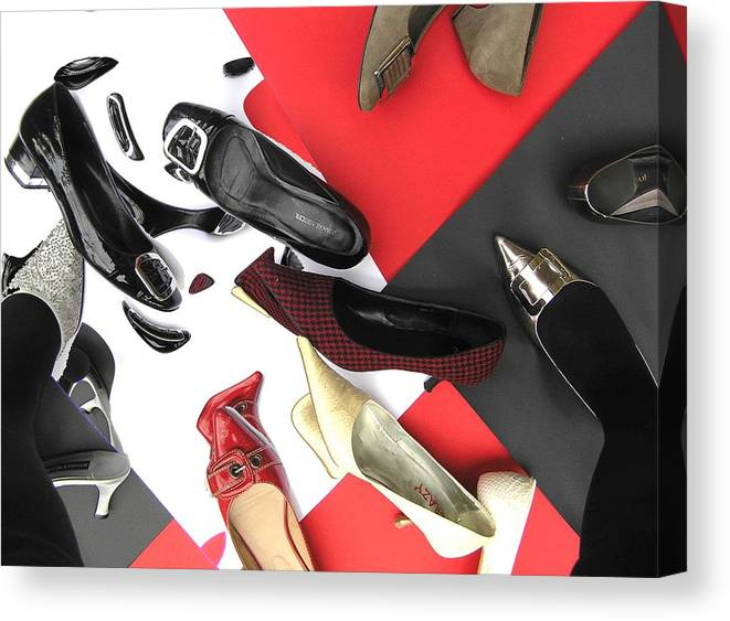 Shoes Canvas Print featuring the photograph Shoe Fetishism 2 by Evguenia Men