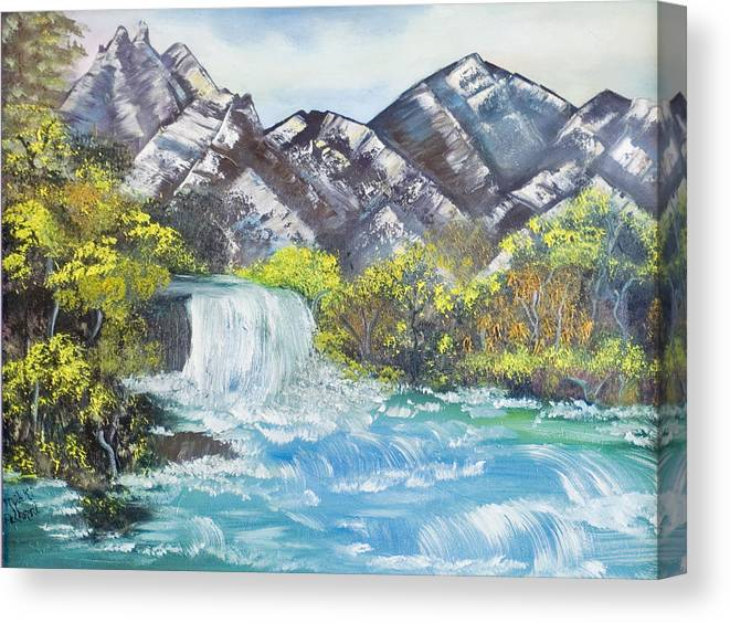 Oil Canvas Print featuring the painting Spring Thaw by Mikki Alhart