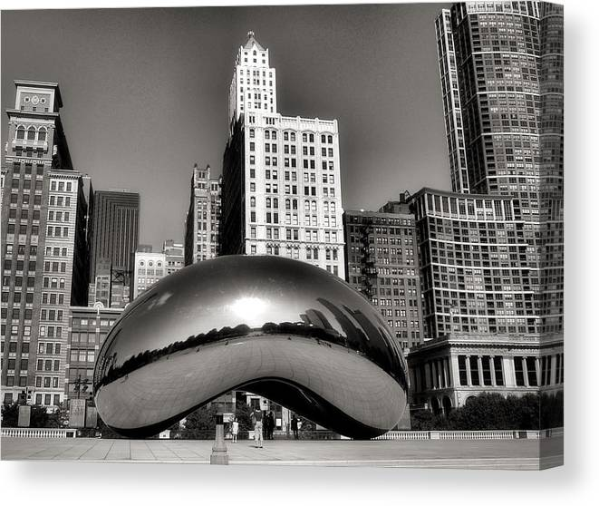 Chicago Architecture Canvas Print featuring the photograph The Bean - 3 by Ely Arsha