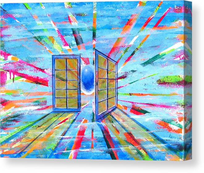 Spirt Canvas Print featuring the painting These Open Doors by Rollin Kocsis