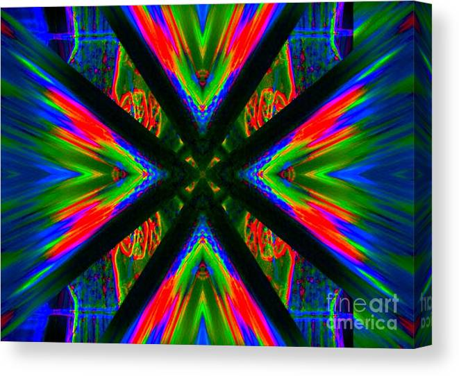 Lorles Lifestyles Canvas Print featuring the digital art Tongue Of Fire by Lorles Lifestyles