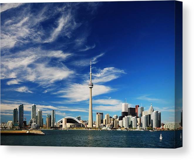 Toronto Canvas Print featuring the photograph Toronto skyline by Andriy Zolotoiy