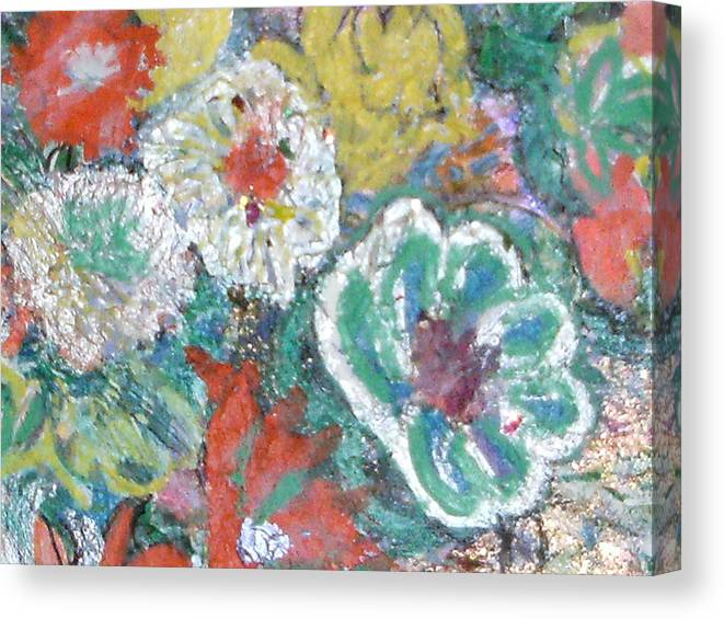 Fun Canvas Print featuring the mixed media Up And Taking Nourishment by Anne-Elizabeth Whiteway