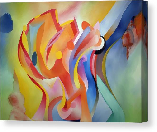 Abstract Canvas Print featuring the painting Warping Reality by Peter Shor