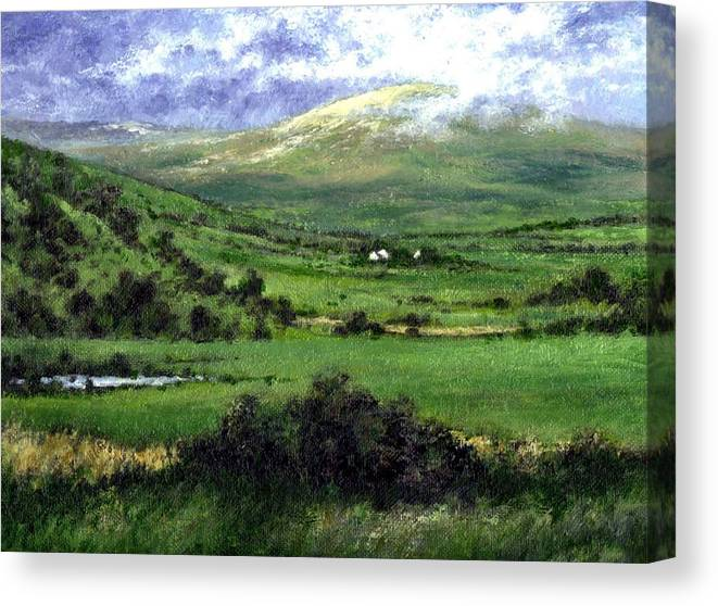 Landcape Canvas Print featuring the painting Way to Ardara Ireland by Jim Gola